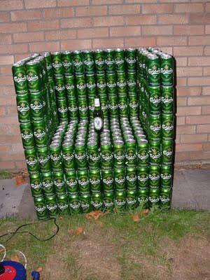 cosas hechas con latas de gaseosas y cervezas