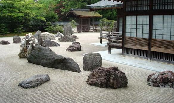 jardines orientales modernos eclcticos o incorporan la piedra como gran valor ornamental generando as espacios en caso de
