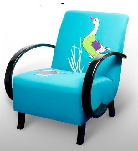 Sillas vintage con originales tapizados mdz online - Telas tapizar sillas ...