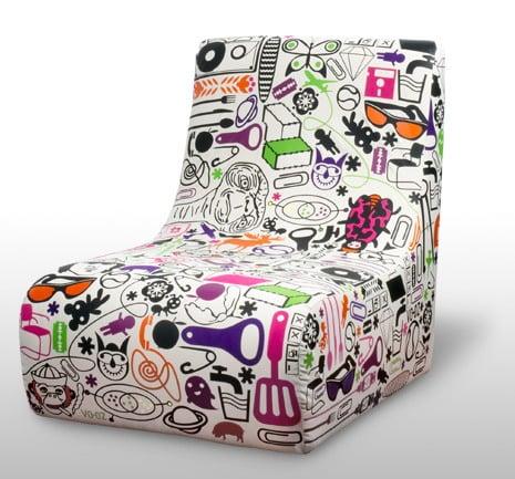 Sillas vintage con originales tapizados mdz online - Telas originales para tapizar ...
