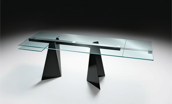 Mesas de vidrio con originales bases mdz online for Bases de mesas cromadas