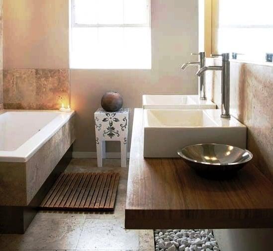 Baños Elegantes Imagenes:Un tip: el Palo Santo proporciona un aroma característico al entrar