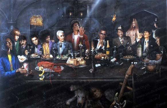 """Los Rolling Stones son el centro de esta """"última cena"""" de grandes de"""