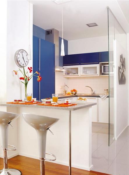 La cocina m s pr ctica con un desayunador mdz online for Ideas para cocinas con poco espacio