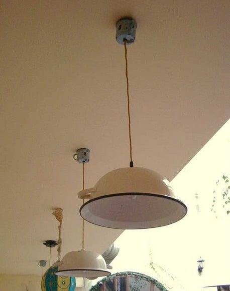 Lamparas de techo hechas en casa cheap objetos de cocina - Lamparas de techo hechas en casa ...