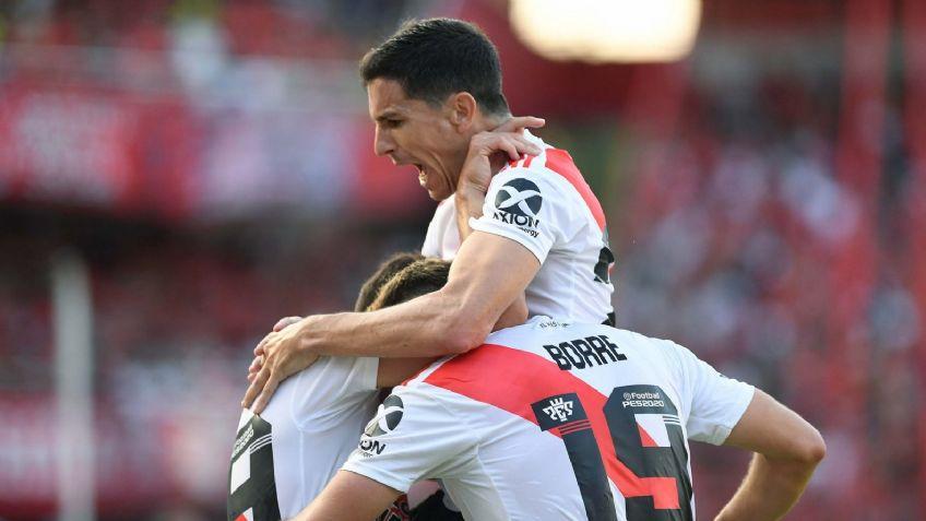 River le ganó a Independiente y alcanzó la punta