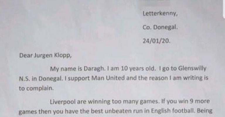 La respuesta de Klopp a un niño que le pide dejarse perder