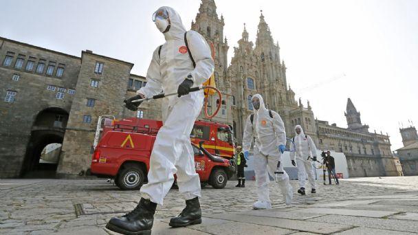 Resultado de imagen de España supera los 1.300 fallecidos por coronavirus.