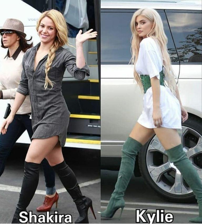 Shakira y Kylie Jenner