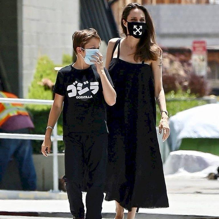 Angelina y su hijo